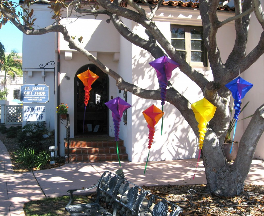 The non-profit St. James Gift Shop sells colorful folk art