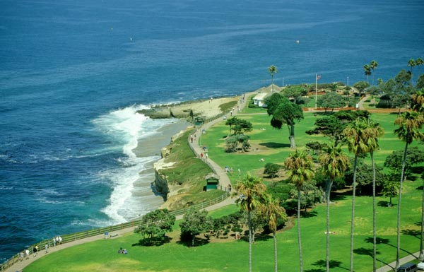 La Jolla park at the cove