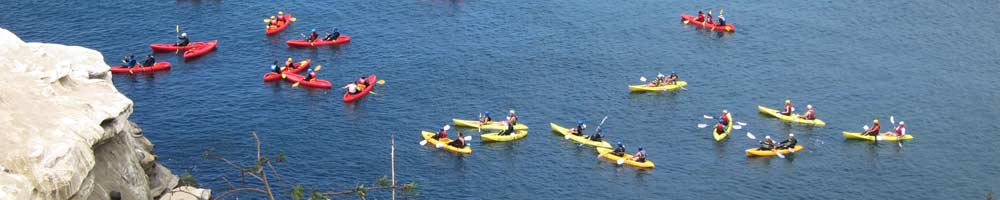 Kayakers at the Caves - La Jolla