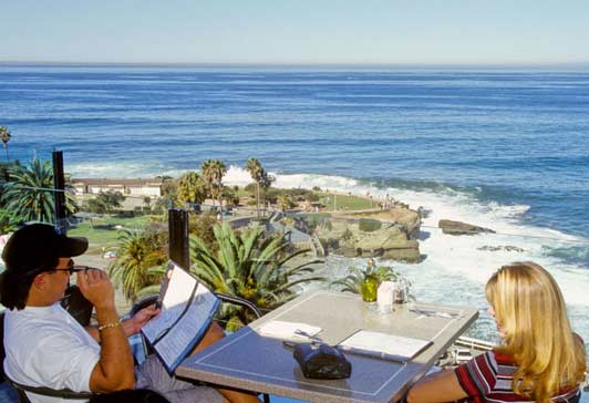 Many La Jolla restaurants serve a great view with their best food.