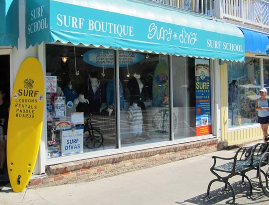 Surf Diva's headquarters are in La Jolla Shores - about a block from the beach.