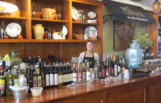 At We Olive, you can taste two dozen kinds of extra virgin olive oil from small producers around California.