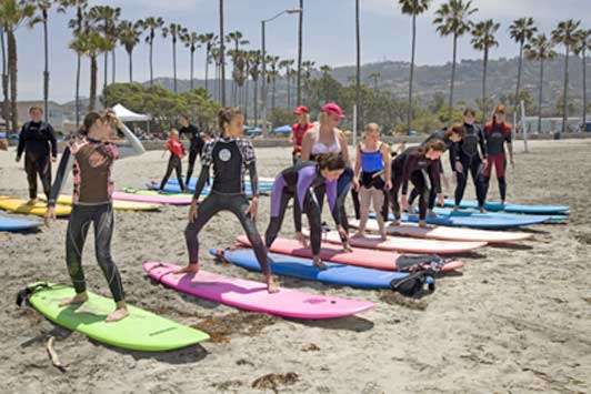 Surf Diva's instructors make sure that everyone has fun while they learn to surf.