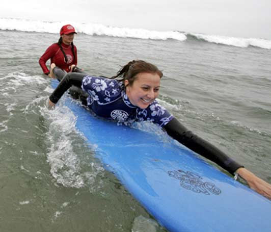 Surf Diva was the first first surf school in the world to focus on teaching women and girls.