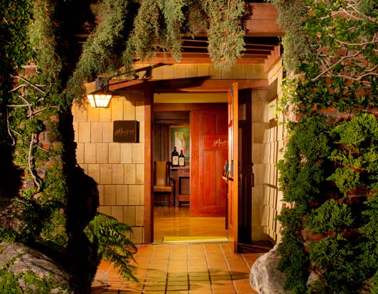 The cozy entrance to A. R. Valentien, the signature restaurant at The Lodge at Torrey Pines.