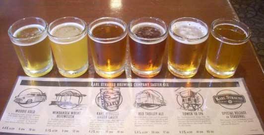 Sample some of San Diego's best craft beer at Karl Strauss La Jolla.