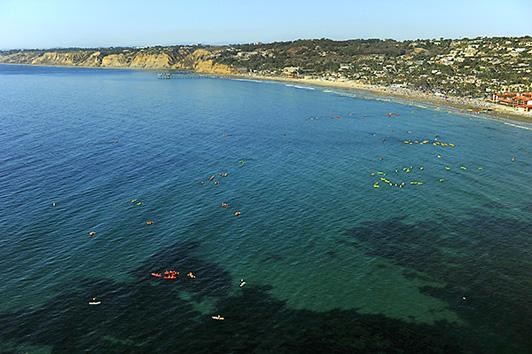 View of La Jolla Shores from the La Jolla Cove.